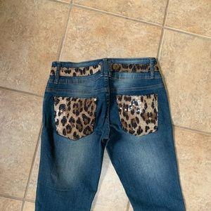 Venus Lepoard Printed Detail Jeans